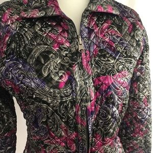 Chico's Shine Reversible Quilted Puffer Jacket